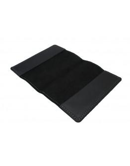 Черная кожаная обложка для паспорта 71322P-SKE