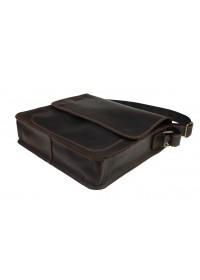Коричневая кожаная вместительная сумка через плечо 71332-SKE