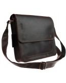 Фотография Коричневая кожаная вместительная сумка через плечо 71332-SKE