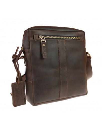 Фотография Темно-коричневая плечевая сумка планшетка 713427-SKE