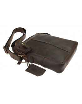 Темно-коричневая плечевая сумка планшетка 713427-SKE