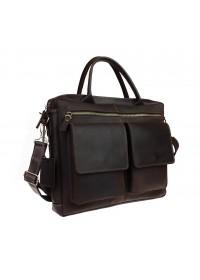 Коричневая кожаная деловая сумка формата А4 71345-SKE