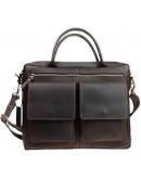Фотография Коричневая кожаная деловая сумка формата А4 71345-SKE