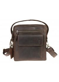 Мужская коричневая кожаная сумка - барсетка 713530-SKE
