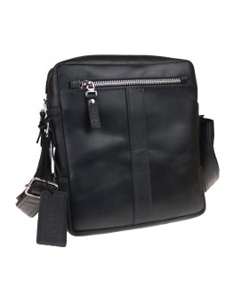 Черная мужская кожаная сумка без клапана 713627-SKE