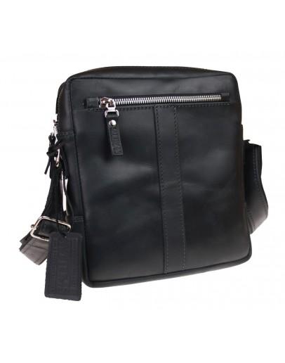 Фотография Черная мужская кожаная сумка без клапана 713627-SKE