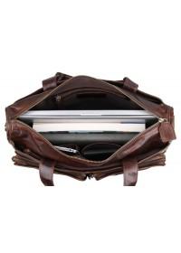 Мужская удобная вместительная сумка шоколадного цвета 77138C