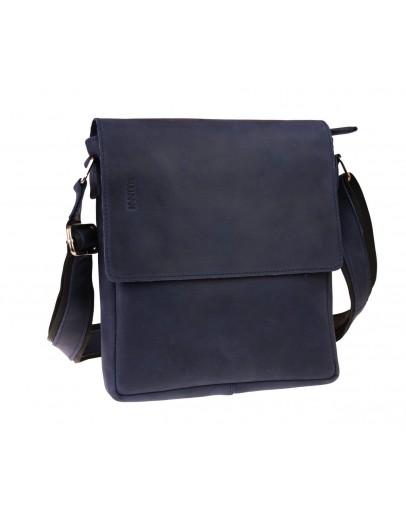 Фотография Синяя мужская кожаная сумка через плечо 713940-SKE