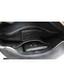 Фотография Черная кожаная плечевая сумка - мессенджер 714035-SKE