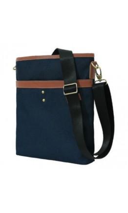 Мужская сумка на плечо из ткани синяя 7140505