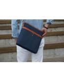 Фотография Мужская сумка на плечо из ткани синяя 7140505