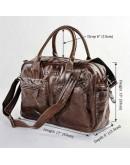 Фотография Повседневная большая мужская сумка коричневого цвета 77142c