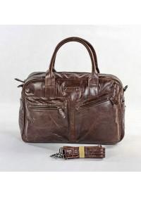 Повседневная большая мужская сумка коричневого цвета 77142c