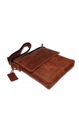Мужская светло-коричневая кожаная сумка на плечо 714232-SKE