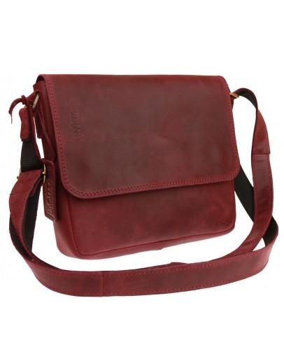Фотография Бордовая кожаная женская небольшая сумка 71425W-SKE