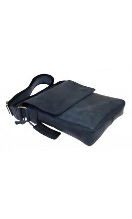 Мужская кожаная сумка на плечо синего цвета 714335-SKE