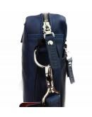 Фотография Синяя кожаная деловая сумка формата A4 71440-SKE