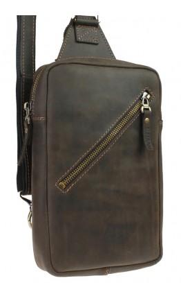 Мужской коричневый винтажный кожаный слинг 7144991-SKE