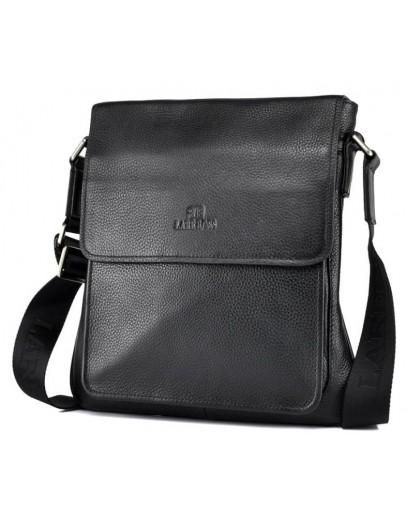 Фотография Удобная черная плечевая мужская сумка 7146-2 black