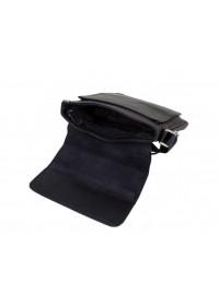Удобная черная плечевая мужская сумка 7146-2 black