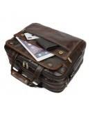 Фотография Качественная сумка шикарного коричневого цвета 77146Q