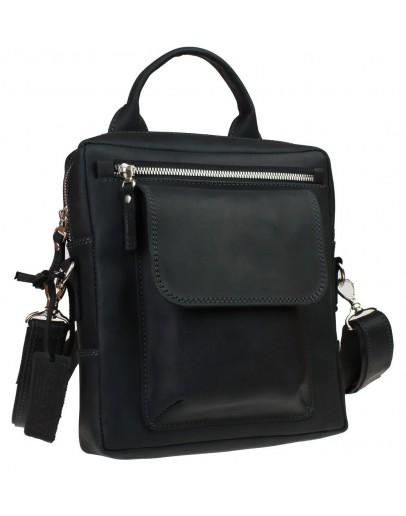Фотография Удобная мужская черная сумка - барсетка 714739-SKE