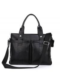 Модный мужской черный кожаный портфель 77148A