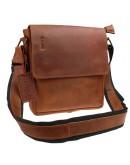 Фотография Светло-коричневая кожаная сумка на плечо 7150357-SKE