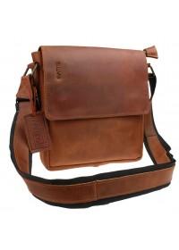 Светло-коричневая кожаная сумка на плечо 7150357-SKE