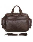 Фотография Вместительная и функциональная мужская кожаная сумка 77150