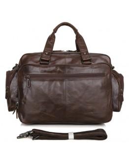 Вместительная и функциональная мужская кожаная сумка 77150