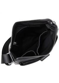 Черная сумка на плечо из мягкой телячьей кожи 77151A