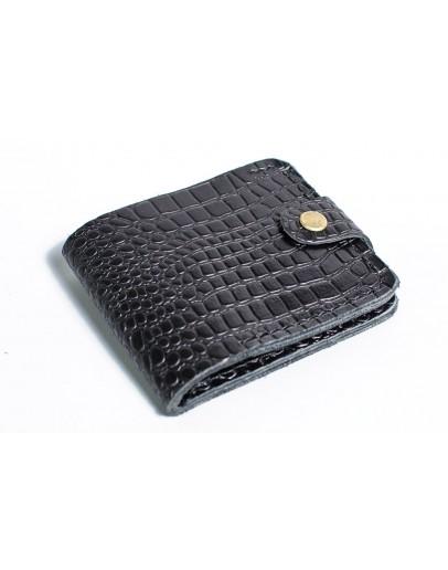 Фотография Мужской черный кошелек с тиснением Man 71510-M