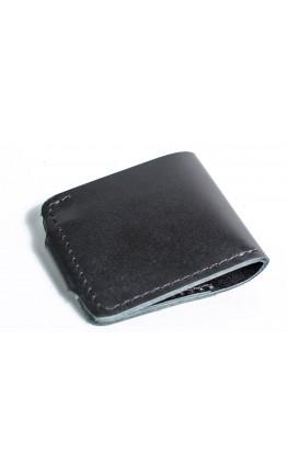 Мужской черный кошелек гладкий Man 71511-M