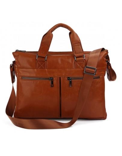 Фотография Стильная и модная мужская кожаная сумка - портфель 77152b