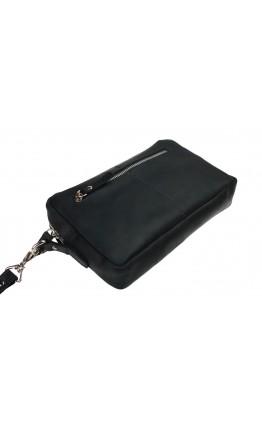 Черный мужской кожаный клатч 71525K-BL