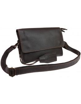 Кожаная женская сумка - клатч коричневого цвета 71532W-SKE