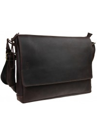 Коричневая горизонтальная мужская деловая сумка 71547-SKE