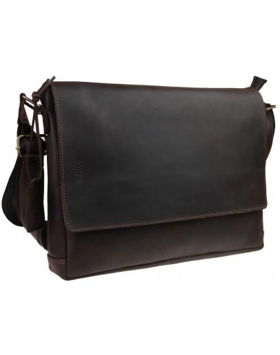 Фотография Коричневая горизонтальная мужская деловая сумка 71547-SKE
