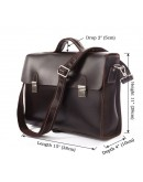 Фотография Деловой кожаный мужской портфель коричневого цвета 77155C