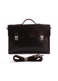 Деловой кожаный мужской портфель коричневого цвета 77155C