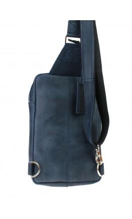 Мужской синий винтажный кожаный слинг 7155371-SKE