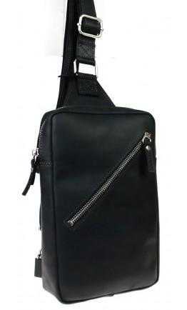 Мужской черный винтажный кожаный слинг 7155991-SKE