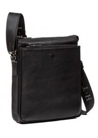 Чёрная сумка из натуральной кожи на плечо 71577-3A