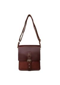 Коричневая винтажная кожаная мужская сумка на плечо 77157B