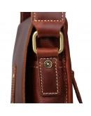 Фотография Коричневая винтажная кожаная мужская сумка на плечо 77157B