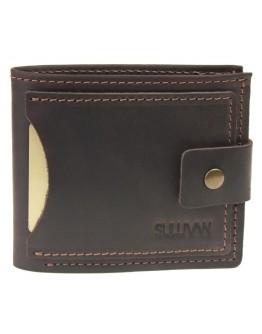 Небольшой кожаный мужской коричневый кошелек 7159P-SKE