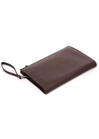 Большая папка-клатч коричневого цвета из натуральной кожи 77160br
