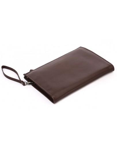 Фотография Большая папка-клатч коричневого цвета из натуральной кожи 77160br