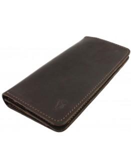 Большой кожаный мужской коричневый кошелек 71610P-SKE